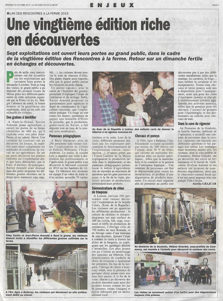 La vie agricole 30-10-2015
