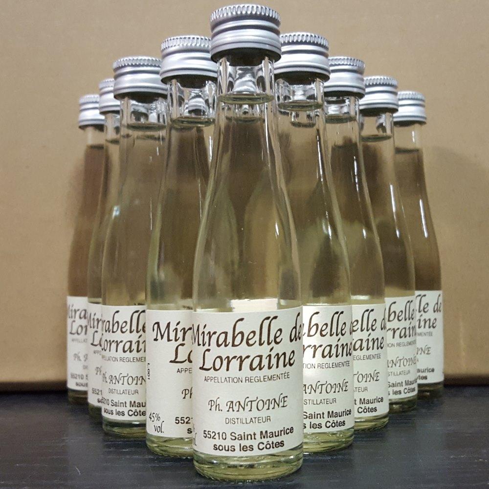 Mignonnettes d'eau de vie de mirabelle de lorraine